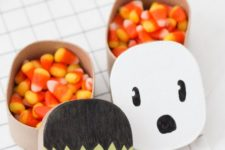 DIY Halloween paper mache gift boxes for kids' parties