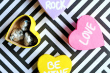 DIY Valentine's Day conversation heart gift boxes
