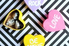 DIY Valentine's Day conversation heart gift boxes