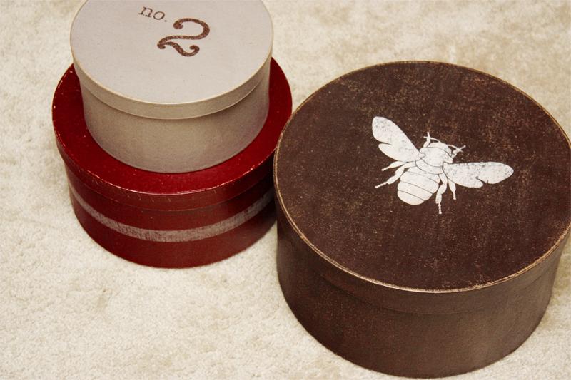 DIY vintage inspired paper mache storage boxes