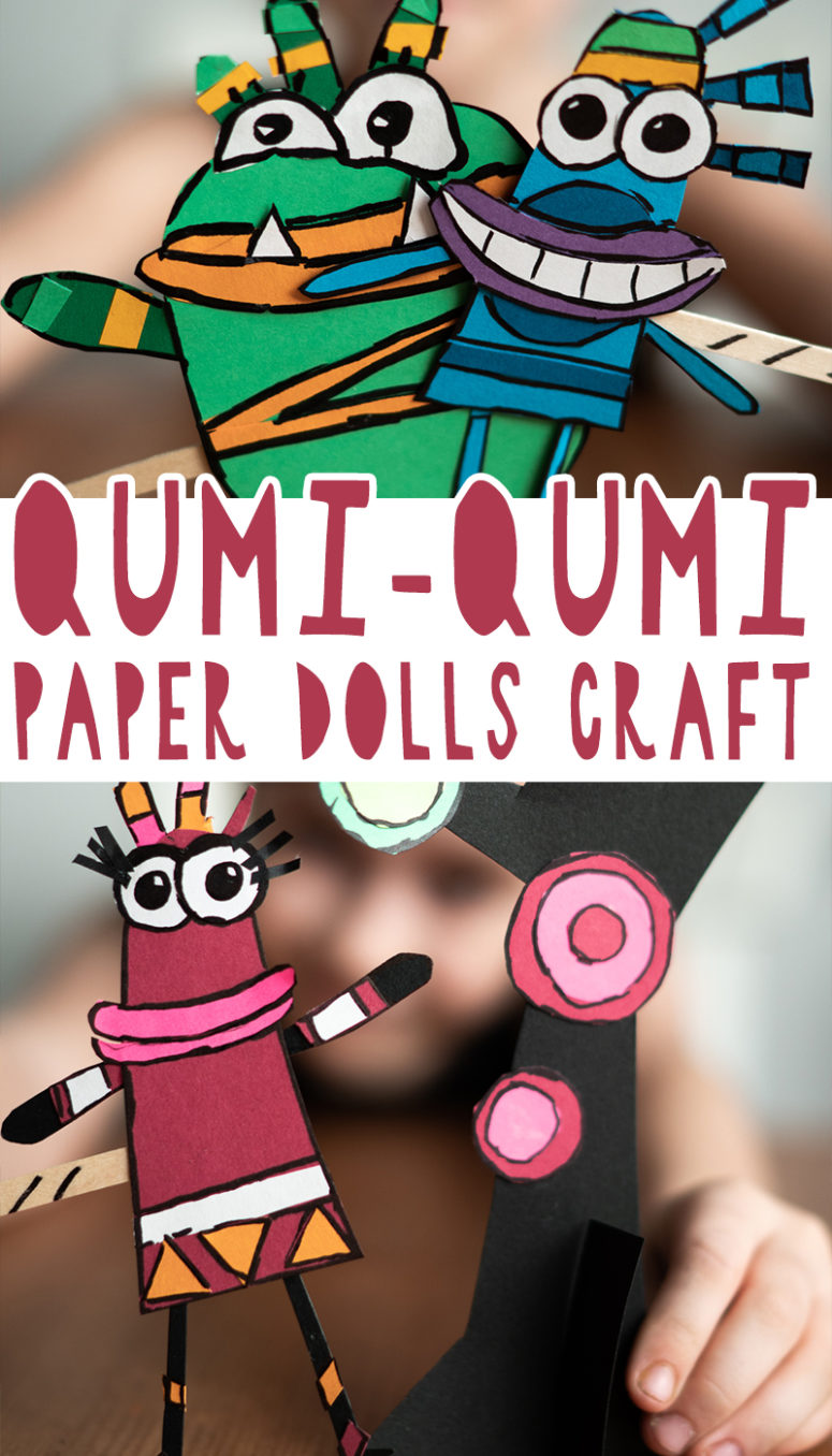 Funny Qumi-Qumi Paper Dolls Craft