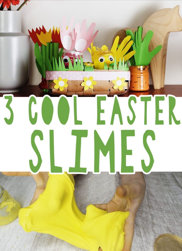 3 Cute Easter Slimes Packed In Cool Jars