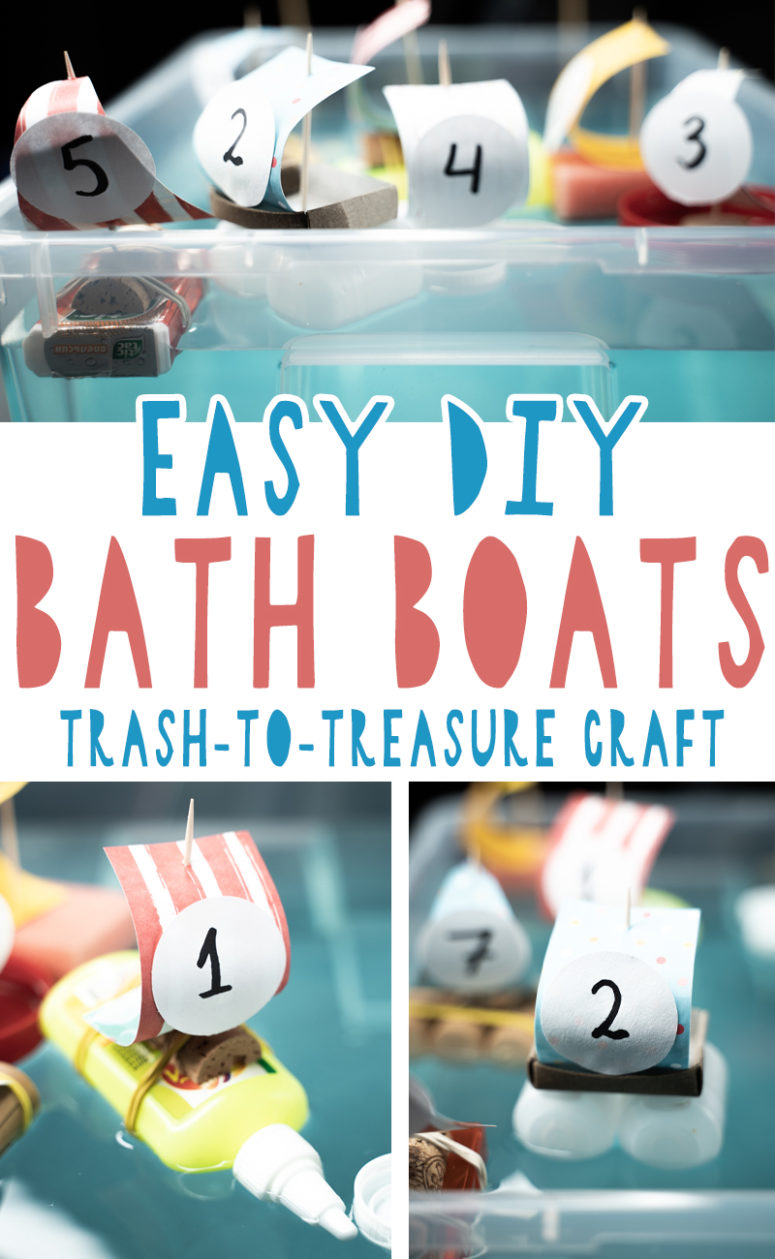 7 Easy DIY Bath Boats For Your Kids