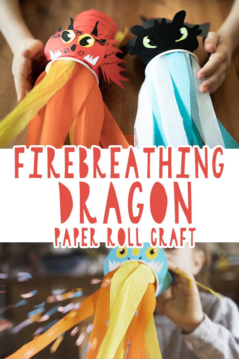 diy firebreathing dragons of toilet paper rolls