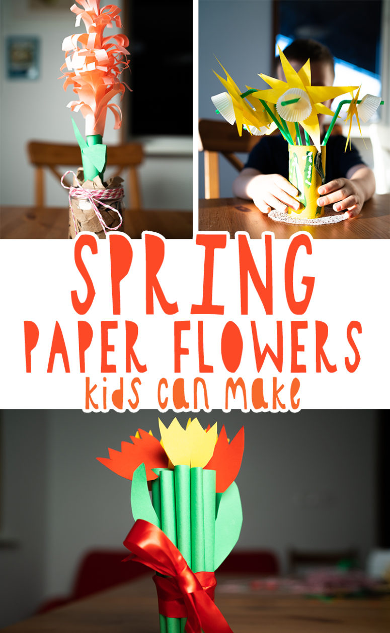 3 DIY Spring Paper Flowers Your Kids Can Make