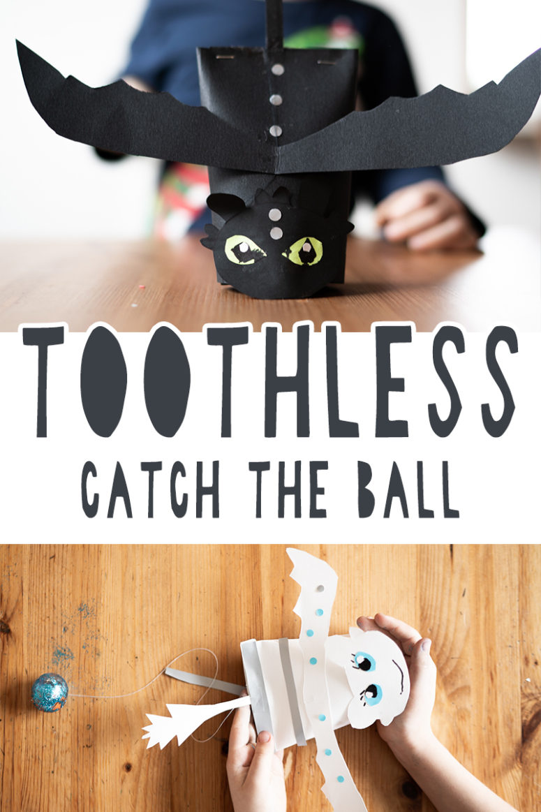 DIY Toothless And Day Fury Catch The Ball