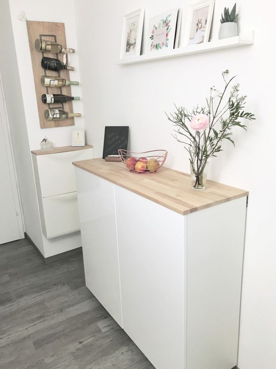 diy ikea floating sideboard