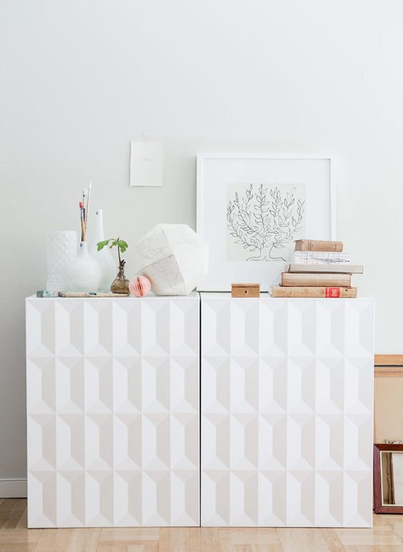 a chic Metod cabinet hack with sculptural doors will fit any contemporary space