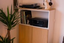 a DIY gaming center for a living room