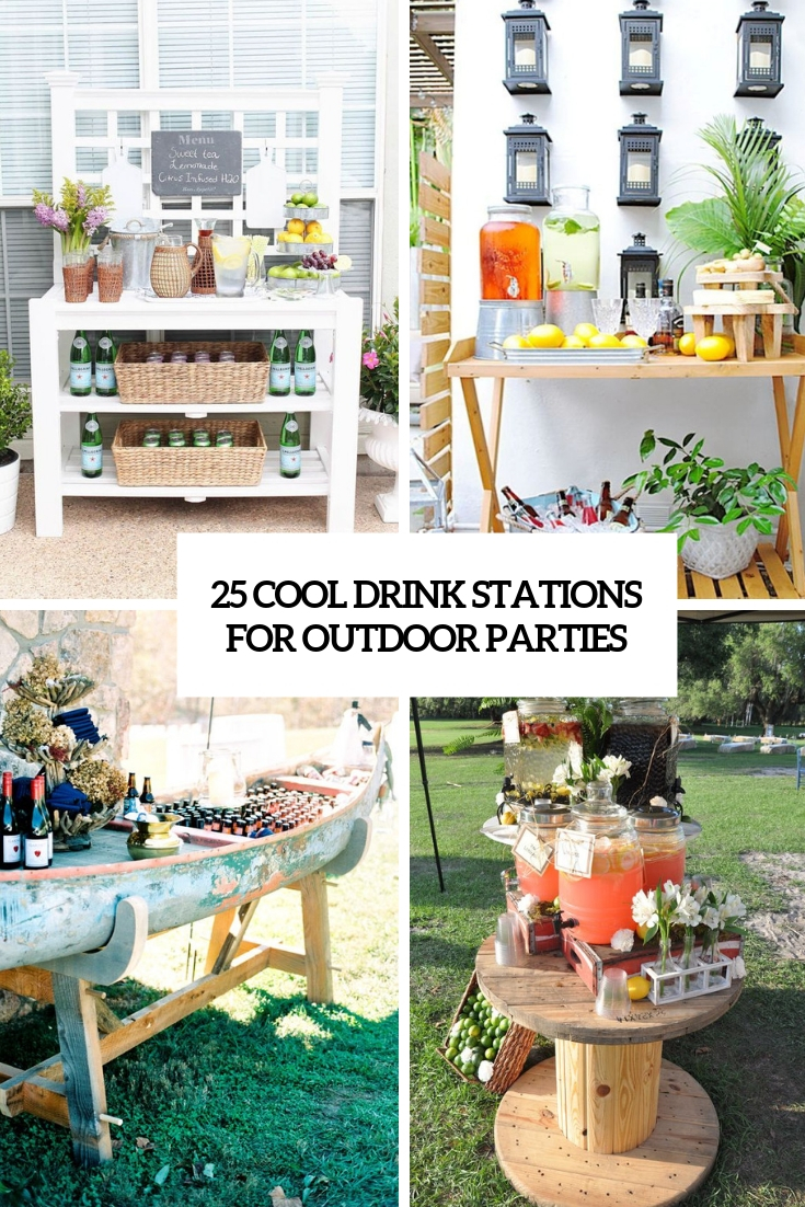 cool drink stations for outdoor parties cover