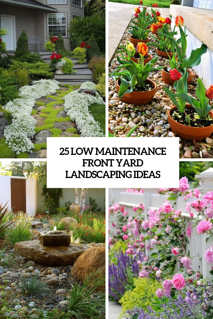 25 Low Maintenance Front Yard Landscaping Ideas - Shelterness on Low Maintenance:cyizg0Gje0G= Backyard Design  id=77697