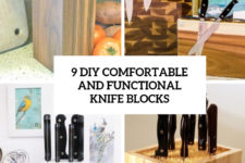9 diy comfortable and functional knife blocks cover