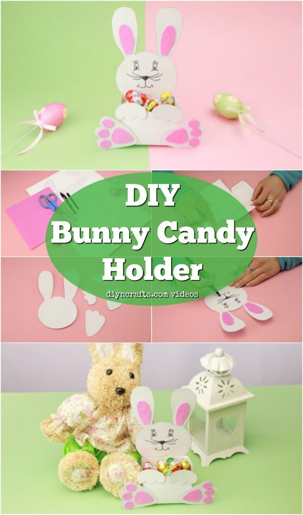 DIY adorable paper Easter bunny for candies (via undefined)