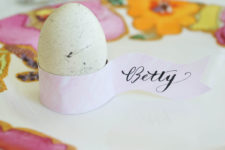 DIY simple and cool paper egg and card holders