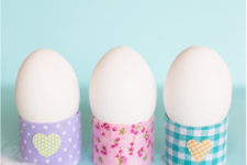 DIY toilet paper roll and washi tape egg holders