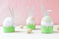 DIY cute paper bunny egg holders for Easter