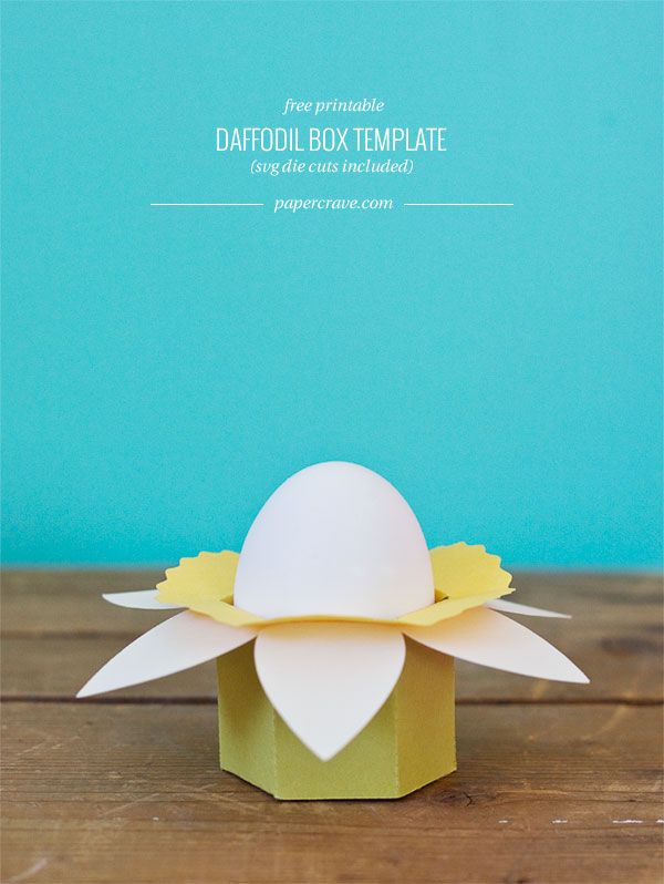 DIY daffodil egg cup boxes (via papercrave.com)