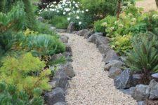 rock-styled garden path design