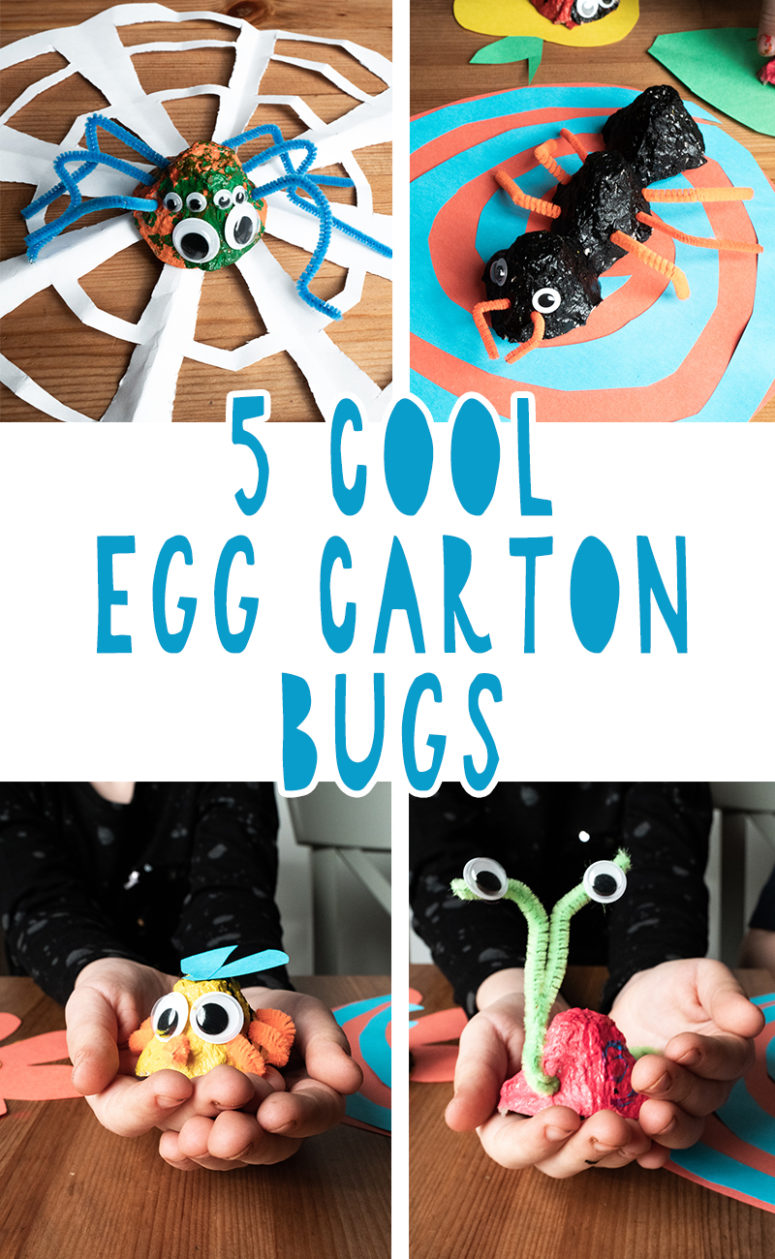 5 cool diy egg carton bugs