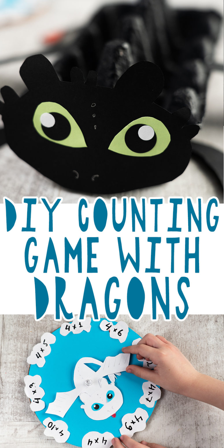 DIY Counting Game With Toothless And Light Fury Dragons