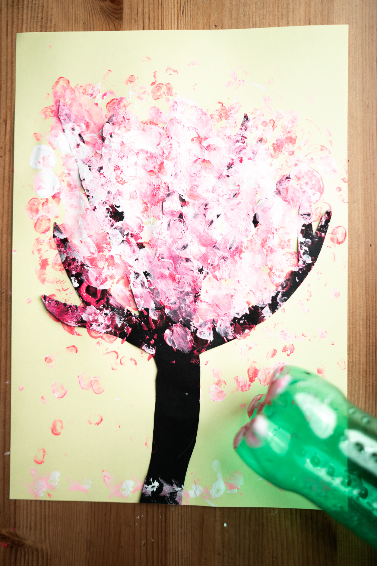 5 funny diy ways to paint blooming trees with kids