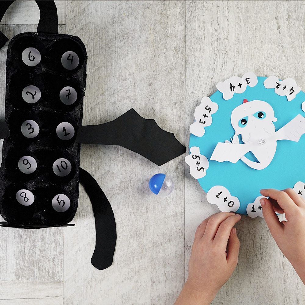 diy counting game with dragons