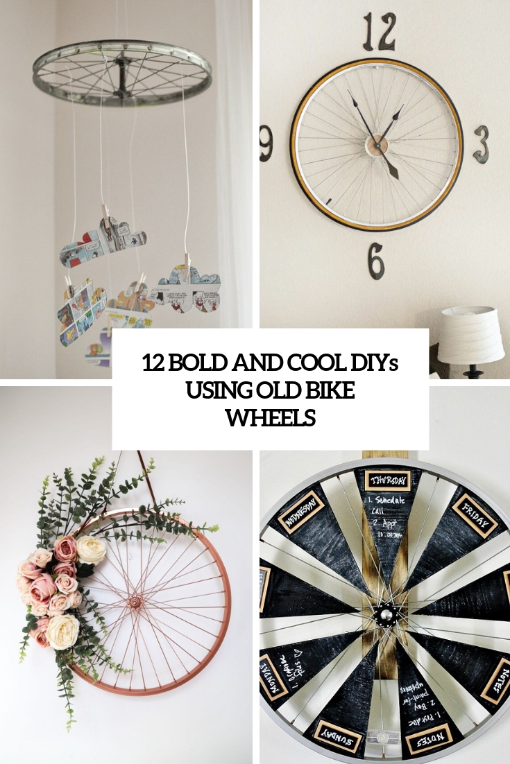 12 Bold And Cool DIYs Using Old Bike Wheels