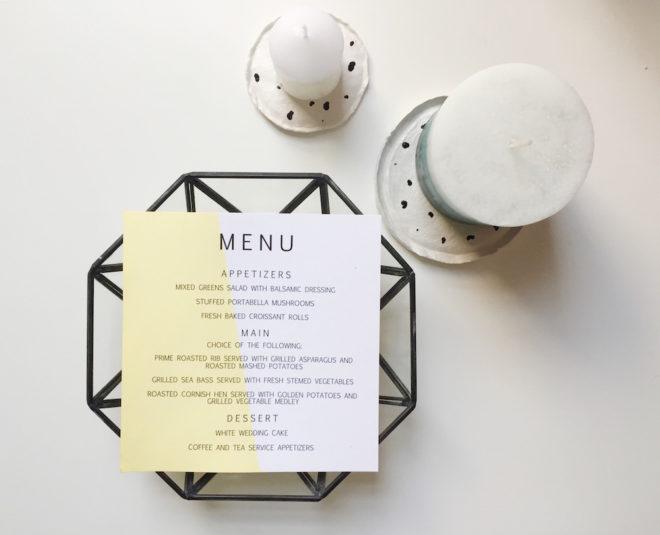 DIY speckled ceramic dish for wedding rings