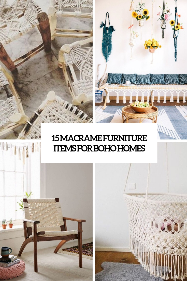 15 Macrame Furniture Items For Boho Homes