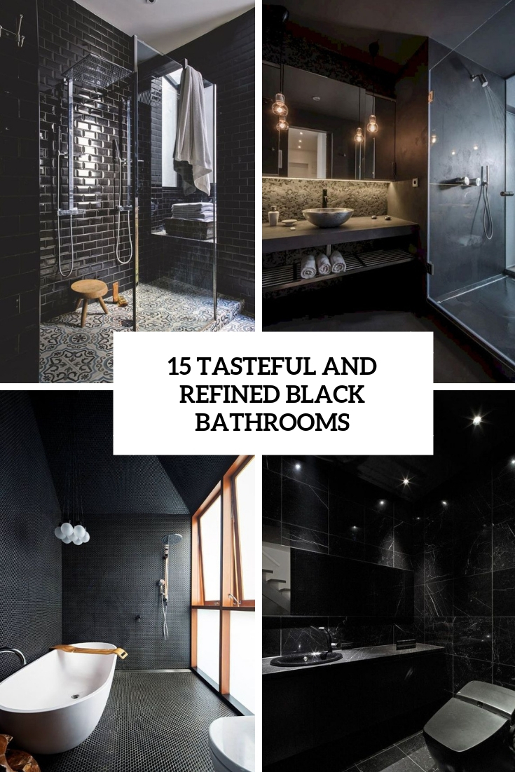 15 Tasteful And Refined Black Bathrooms