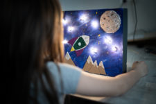 17 diy glowing space box for international space day