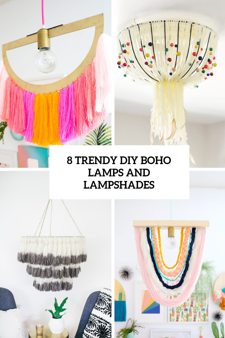 8 trendy diy boho lamps and lampshades cover