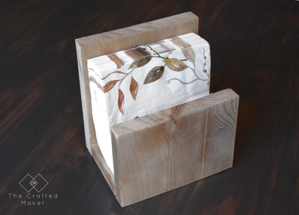 DIY simple scrap wood napkin holder