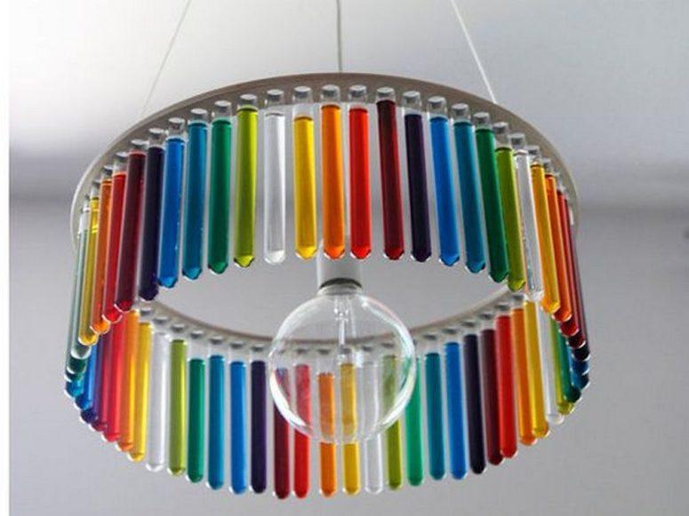DIY colorful round test tube chandelier (via craft.ideas2live4.com)