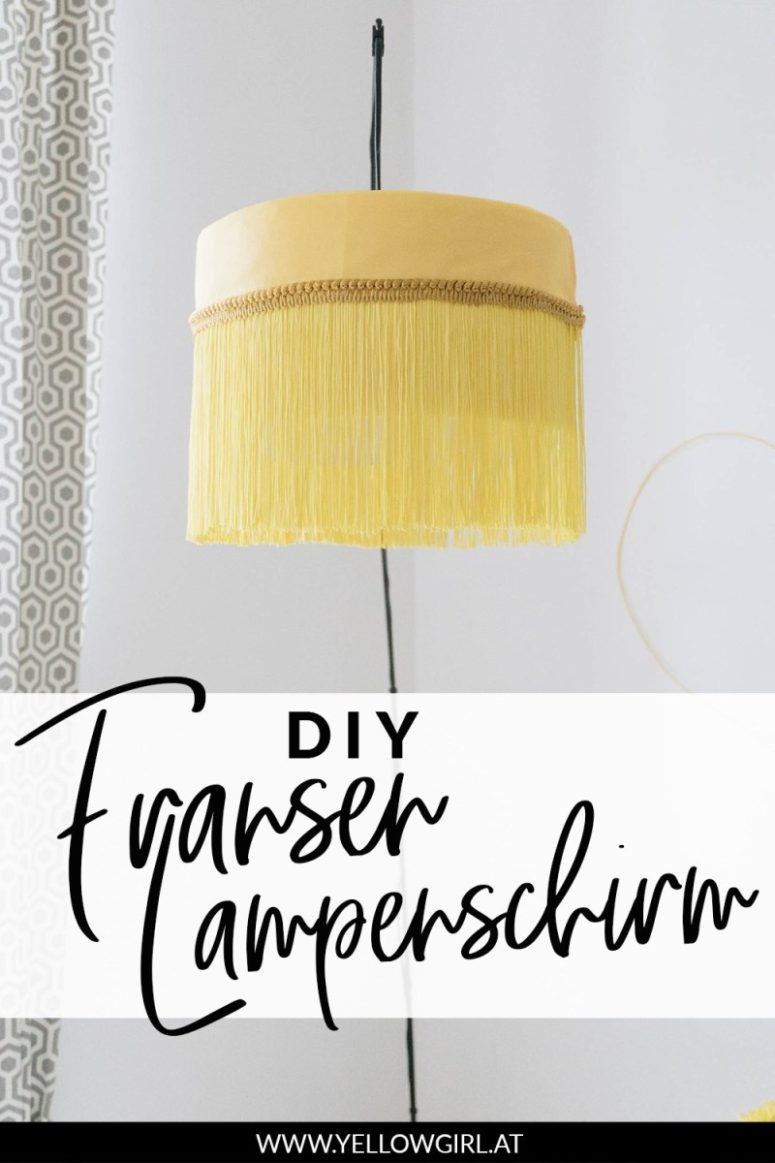 DIY fringed and braided trim lamp (via undefined)