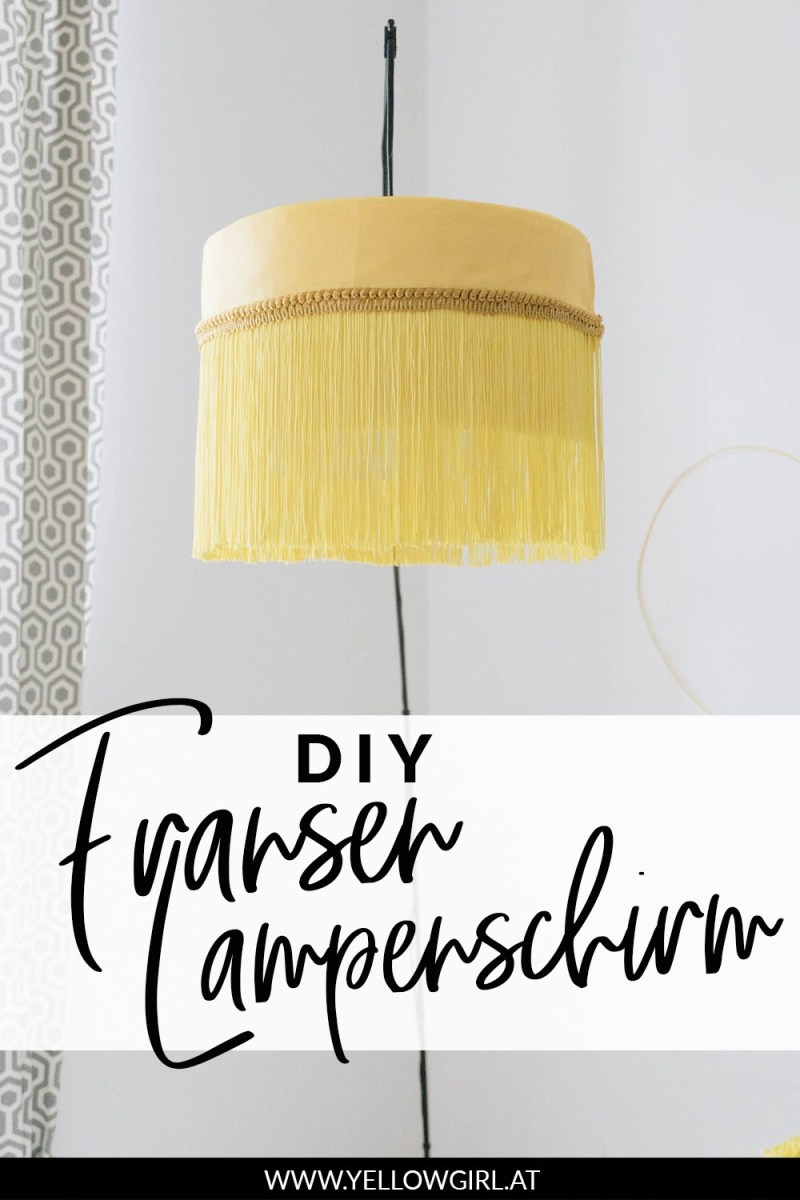 DIY fringed and braided trim lamp