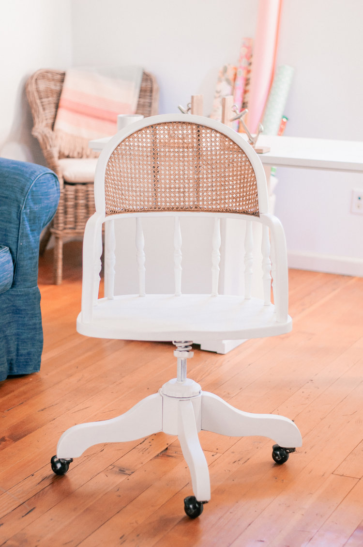 DIY renovated and refreshed cane chair (via undefined)