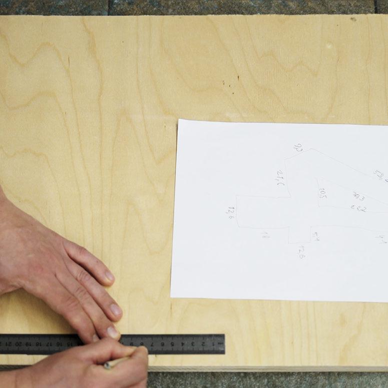 diy dinosaur birthday number made of plywood