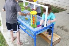 DIY PVC pipe sand and water table