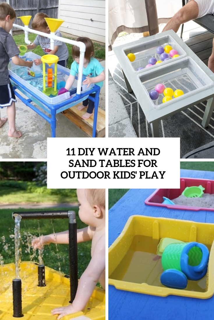 diy water and sand tables for outdoor kids' play cover