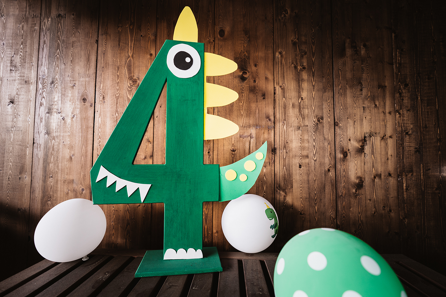 Diy Dinosaur Birthday Number Made Of Plywood Shelterness