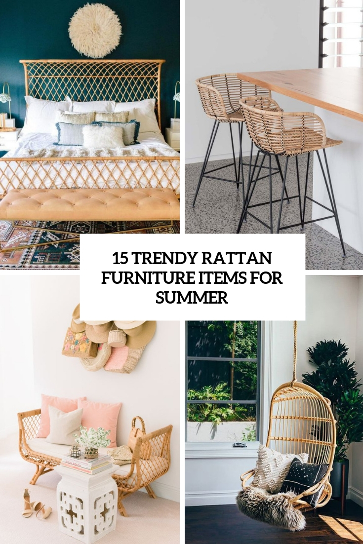 15 Trendy Rattan Furniture Items For Summer