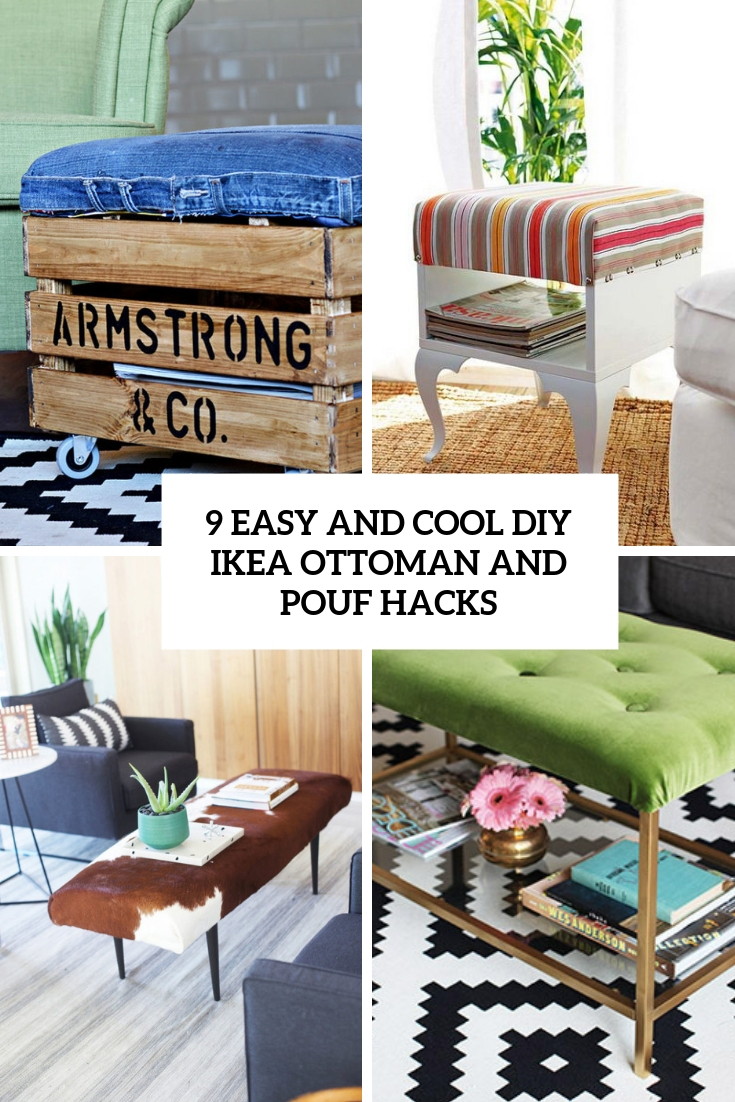 9 easy and cool diy ikea ottoman and pouf hacks cover