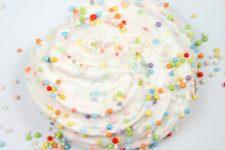 DIY birthday cake confetti slime