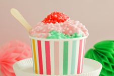 DIY ice cream sundae slime recipe