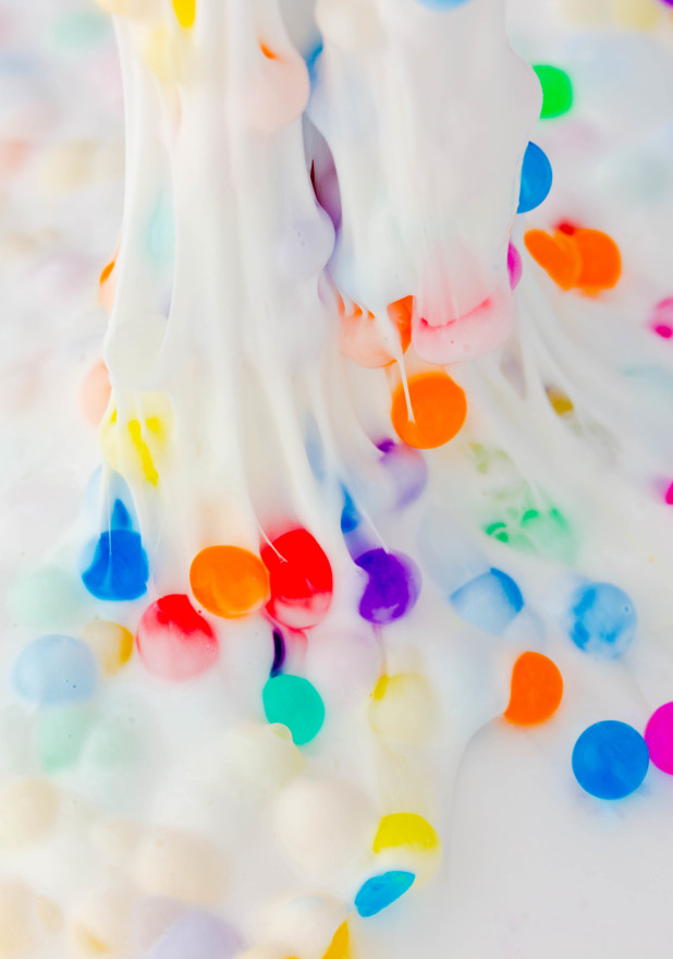 DIY white toothpaste colorful orbeez slime (via www.savynaturalista.com)