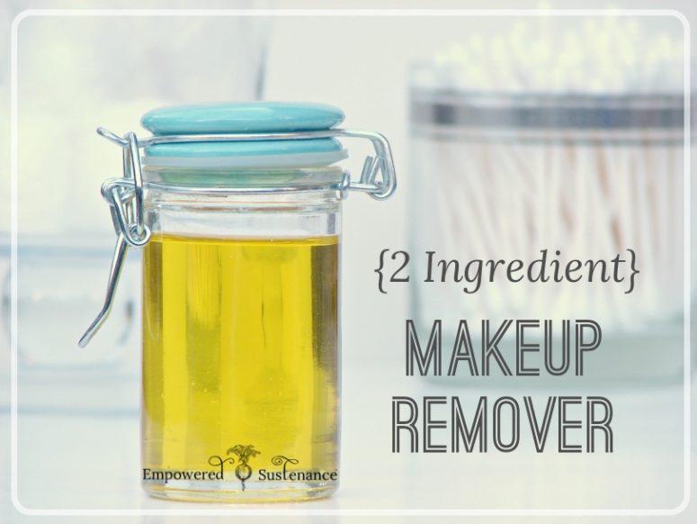 DIY 2-ingredient makeup remover  (via empoweredsustenance.com)