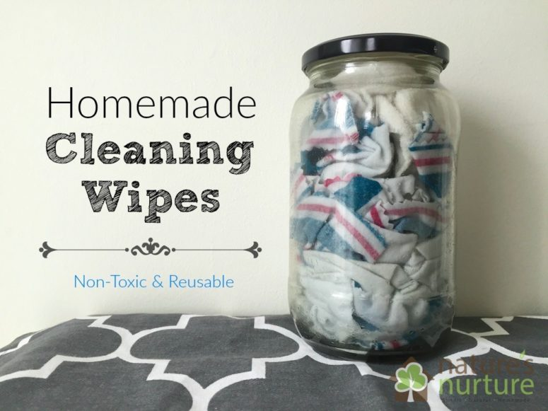 DIY cleaning wipes using a variety of refreshing essential oils (via naturesnurtureblog.com)