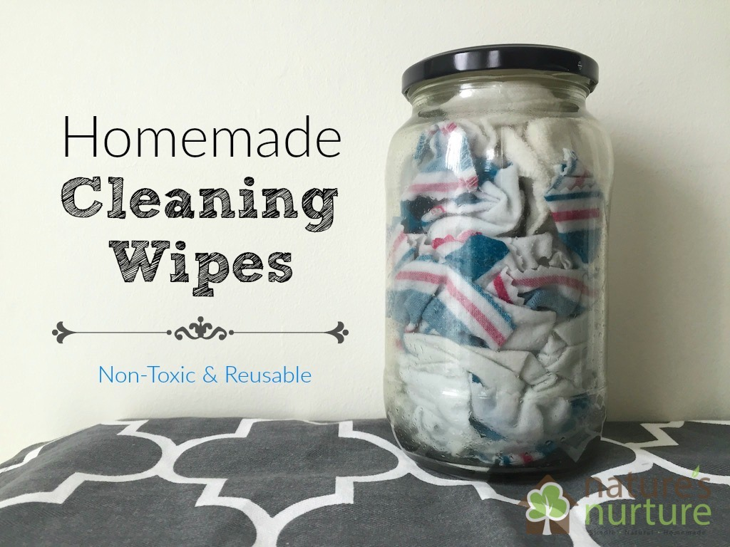 DIY cleaning wipes using a variety of refreshing essential oils