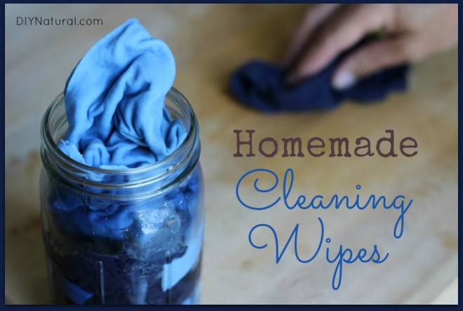 DIY reusable cleaning wipes with bergamot, lavender and lemon oils (via www.diynatural.com)